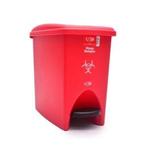 Papelera-de-pedal-roja-10-litros-residuo barranquilla
