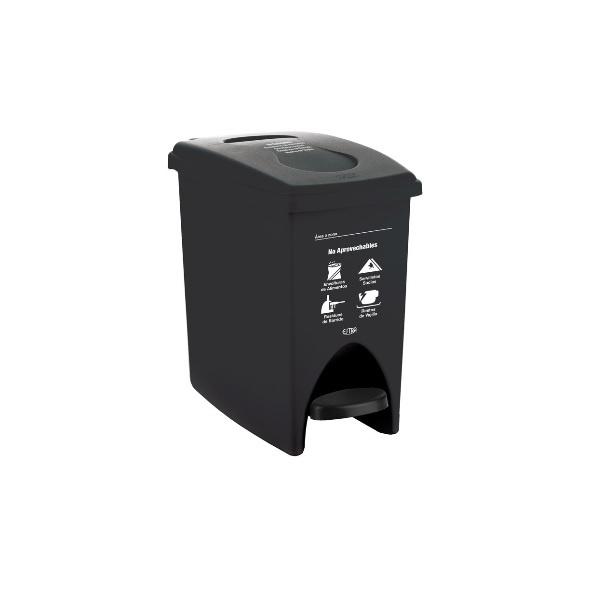 papelera-negra-de-pedal-10-litros-no-aprovechables-estra