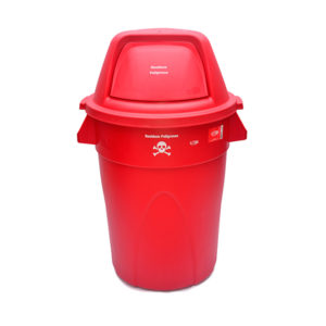 Contenedor plastico riesgos biologico 121 litros