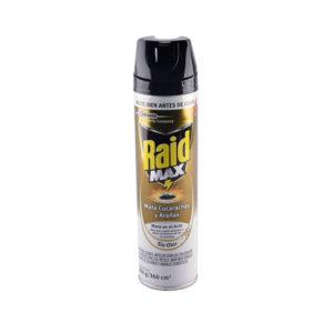 Insecticida Raid Max mata cucarachas arañas barranquilla