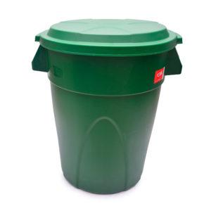 Contenedor verde estra plastico