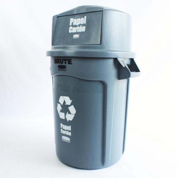 Contenedores con tapa de 121 litros para papel y cartón rubbermaid