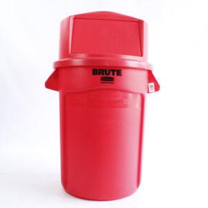 Contenedor Rojo 121 Litros con tapa rubbermaid barranquilla