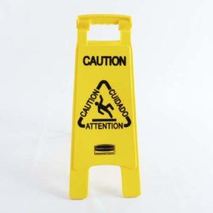 señal piso mojado rubbermaid