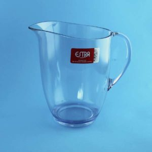 jarra transparente acrílico