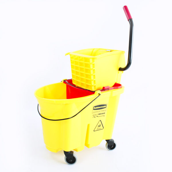 Balde amarillo con escurridor rubbermaid barranquilla