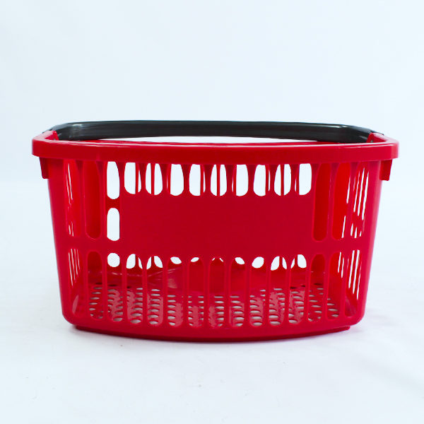 Canasta de mano plástica para supermercados