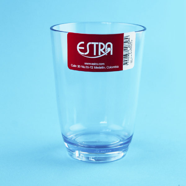vaso en acrílico transparente catalogo