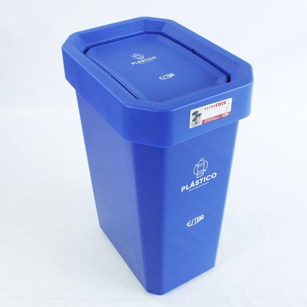 Canecas de 53 litros para reciclar plástico estra