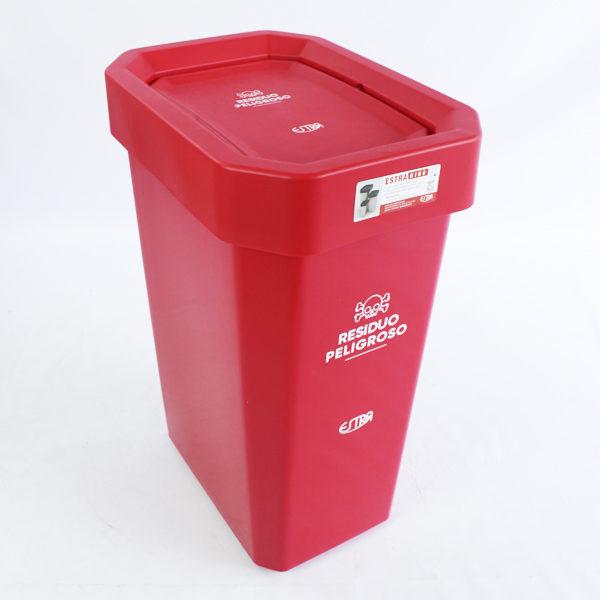 Canecas plásticas de 53 litros estra