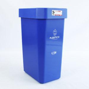 Canecas plásticas azul marca estra