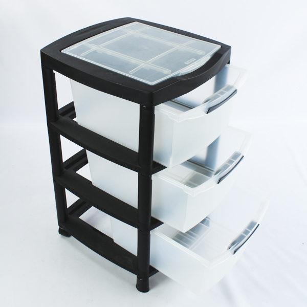 Gaveteros plásticos de 3 gavetas rimax