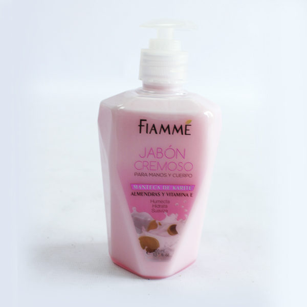 Jabón para manos almedras y vitamina E fiamme domicilios