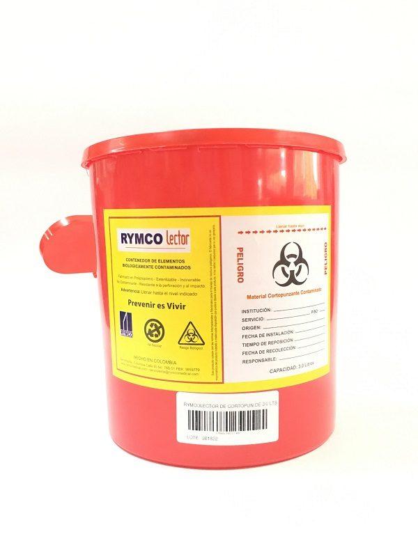Recipiente Rojo Residuos Peligrosos barranquilla