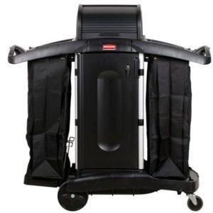 Carro compacto para camarera con tapa de seguridad rubbermaid barranquilla