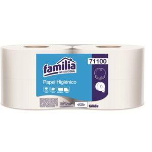 papel higiénico blanco por 400 metros para dispensador familia
