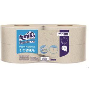 Papel higiénico triple hoja por 170 metros color natural familia barranquilla