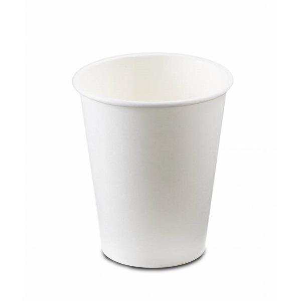 Vaso cartón de 9 onzas color blanco