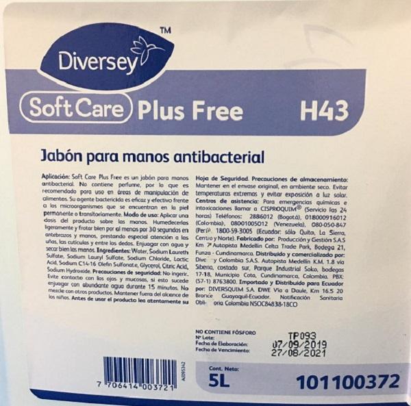 Jabón liquido antibacterial 5 litros diversey Barranquilla