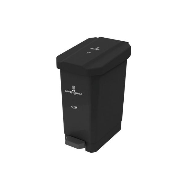 papelera-de pedal-negra-no-aprovechables-estra